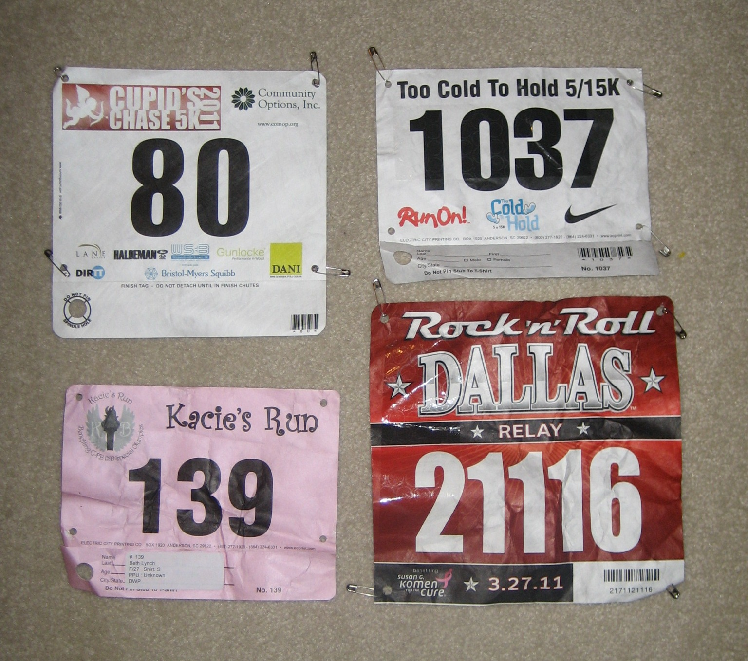 do With Your Race Bibs