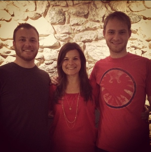 And you thought Teal was tall? Check out how much taller her bros are than her!