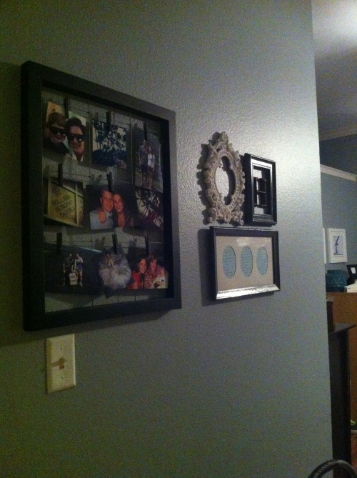 the 3 frame collage is the new addition to this wall